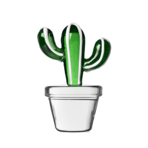 fermacarte decorativo a forma di cactus in vetro ichendorf