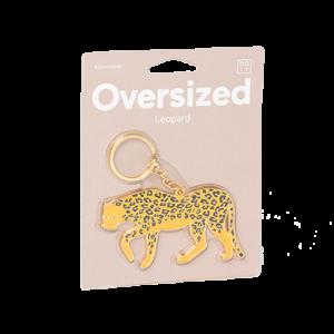 Portachiavi oversized Leopardo