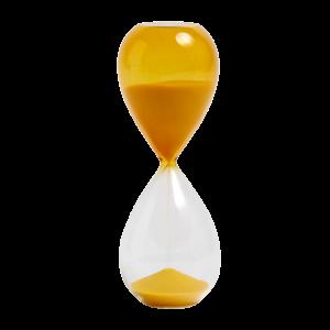 Time L yellow - clessidra di vetro 30 minuti