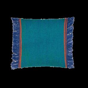 cuscino con frange in cotone
